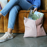 pink leather bag by hkliving usa and ELLE magazine