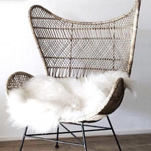 hk living usa natural egg chair bohemian with sheep skin