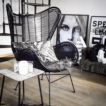 black rattan egg chair by hk living usa