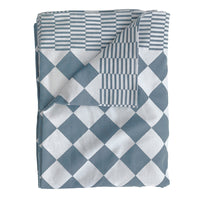 traditional dutch table cloth in blue