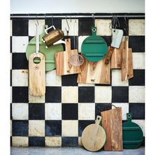 Charcuterie board round S - forest green