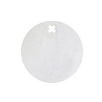 round marble cutting board with cutout