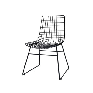 Black metal dining chair in Nordic design