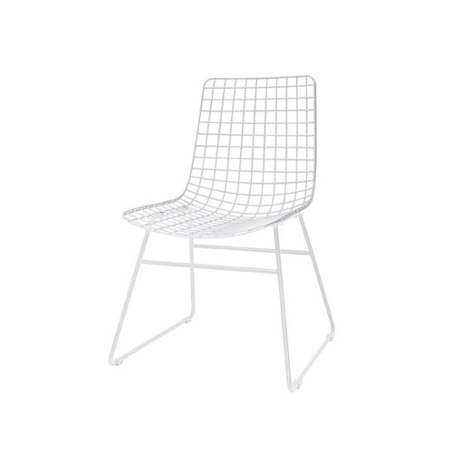 White metal wire chair