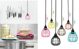 bright colored pendant lights by HK living usa