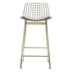 Brass metal wire chair by HK living