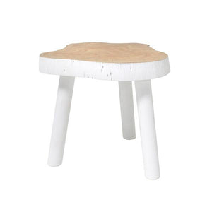 Medium size tree table with white legs