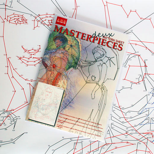 mo man tai masterpieces pattern sheet deux old masters