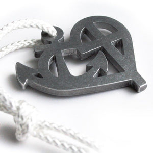 faith love hope pendant with rope