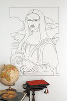 mo man tai pattern sheet with mona lisa for your wall