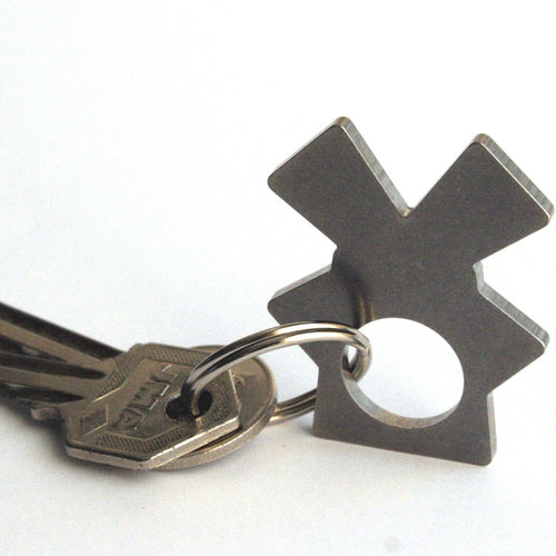 metal eco friendly recycled key chain of windmill