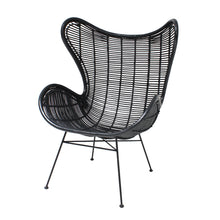 hk living usa black rattan egg chair