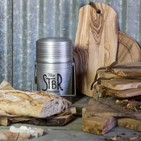 sturdy aluminum storage jar by STBR for him