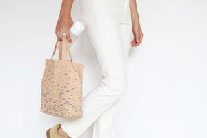 fair trade cotton bag in nude color