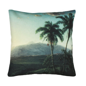 Printed cushion - palm scape
