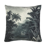 throw pillow with jungle print