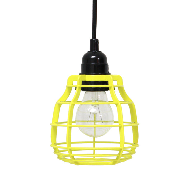 bright yellow pendant light