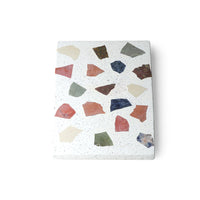 marble and terrazzo plate with vibrant colors