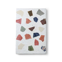 marble and terrazzo plate with colors