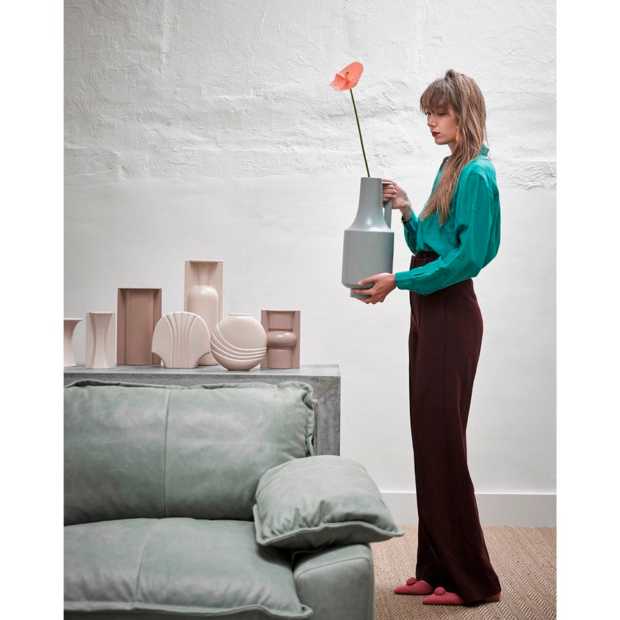 Green vase with handle | HK living