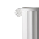 white ceramic vase in a greek column design by HK living usa