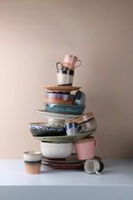stack of hk living usa ceramic plates, mugs and bowls