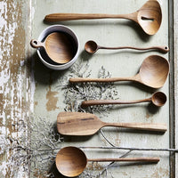 set of wooden spoons in organic shapes