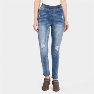 Open image in slideshow, High rise skinny jeans