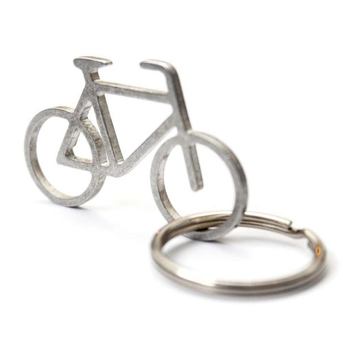 key chain of bike made of recycled metal
