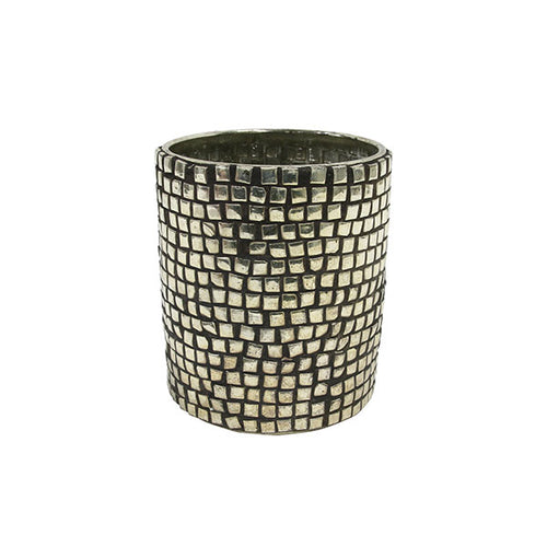 candle light holder with silver studs