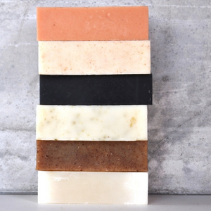 stack of soap bars