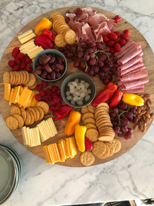 Charcuterie board round XL - grey