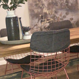 Metal wire chair - marsala