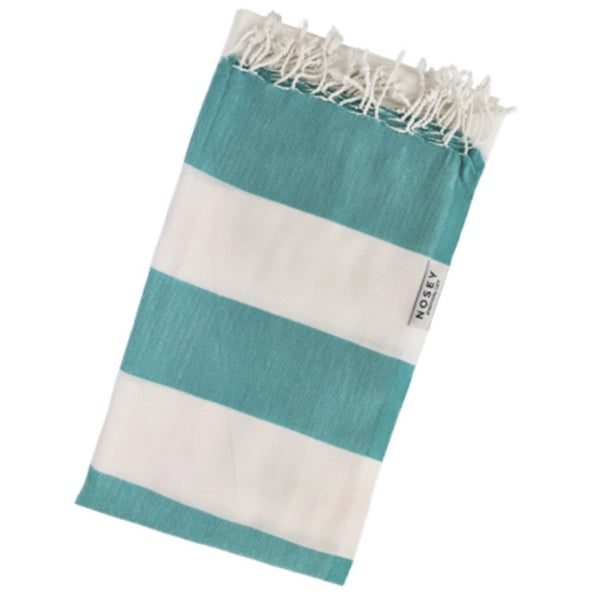 Happy towel - Green & White