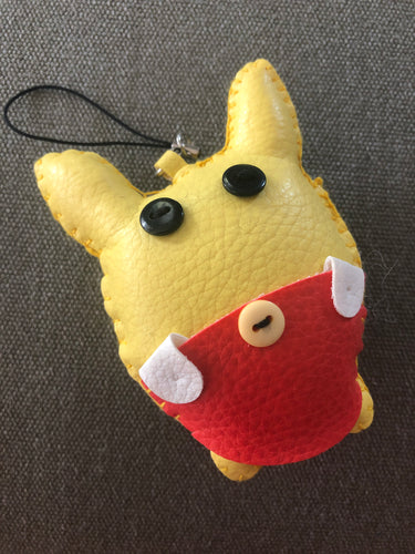 Funky bag charm - my yellow friend