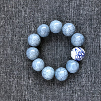 Bracelet - Dutch blue beads