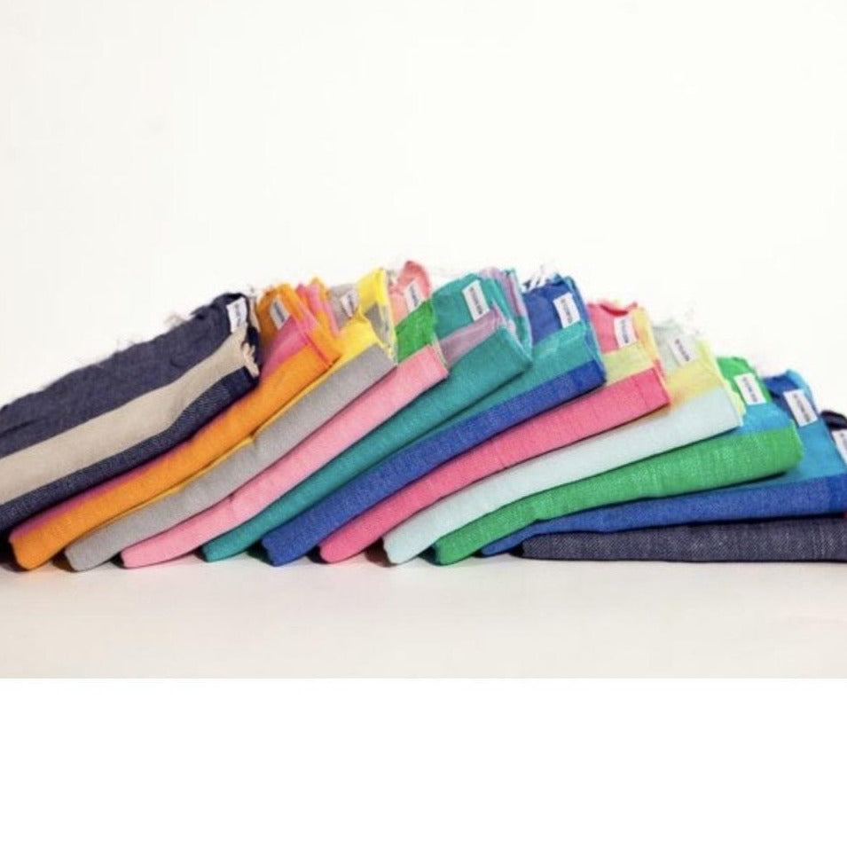 cotton towels for beach in happy colors