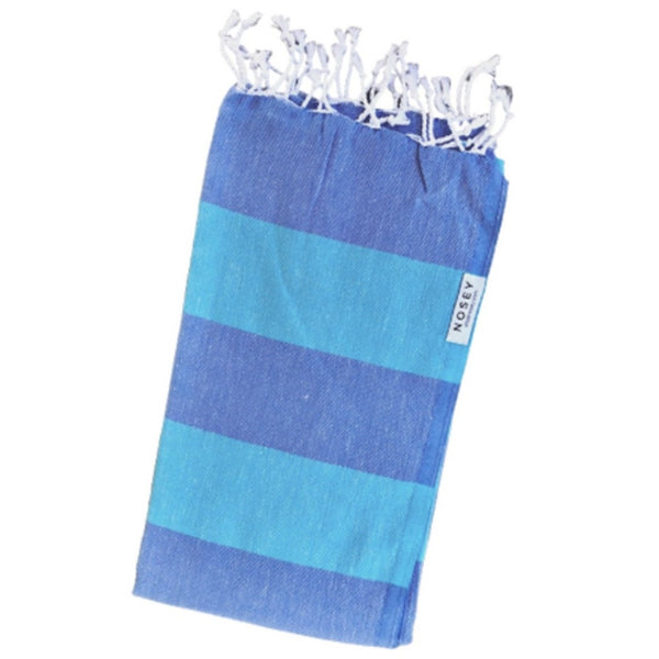 nosey cotton towel in blue for pink lemon shop