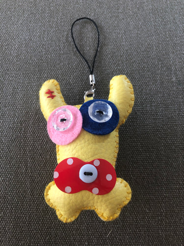 Funky bag charm - Little yellow friend