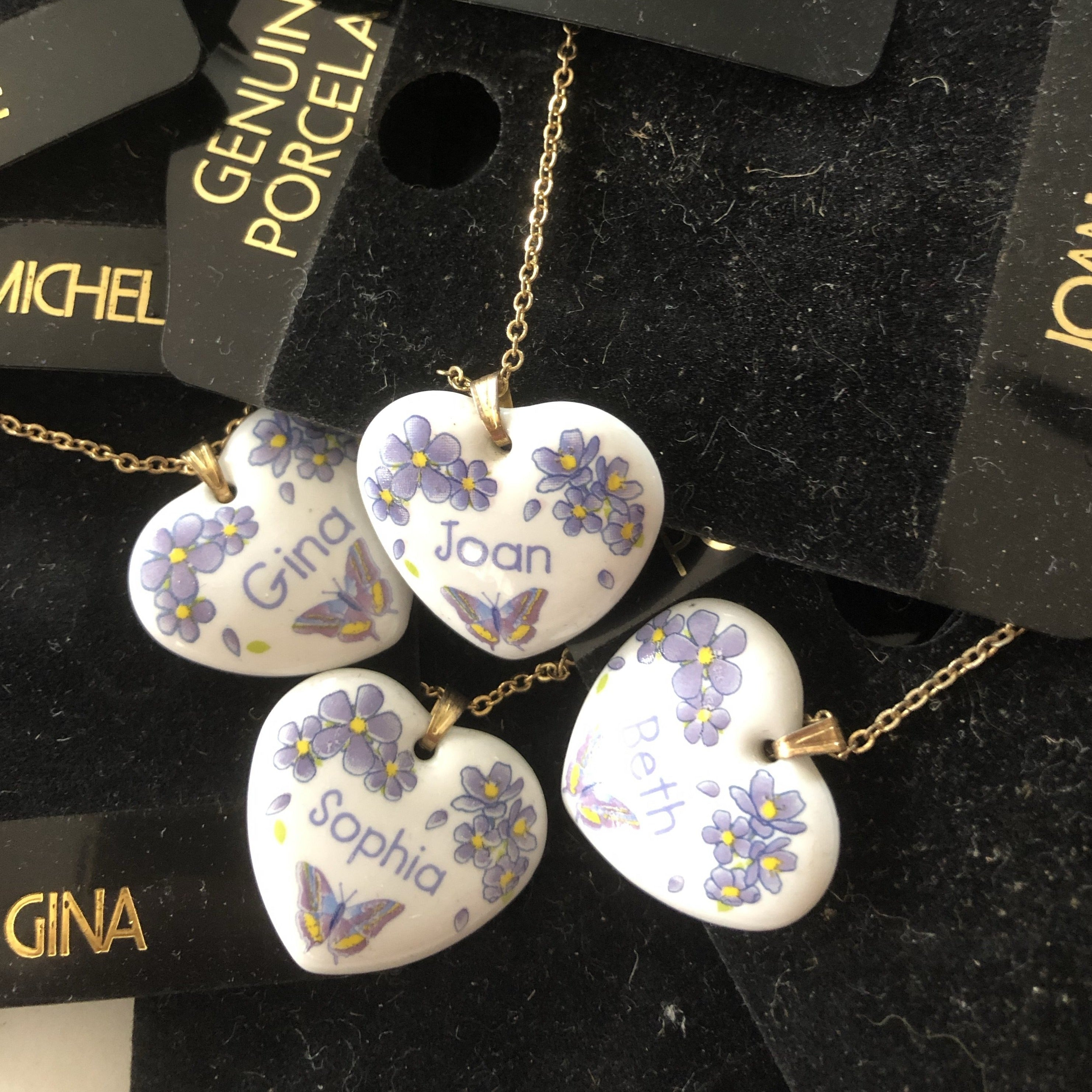 Heart shaped pendant with name