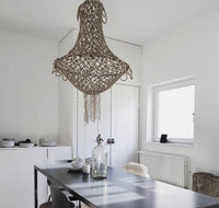 Hand knotted chandelier