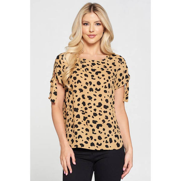 Cheetah short sleeve top