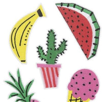 Fruit iron on embroidered patch | set of 5