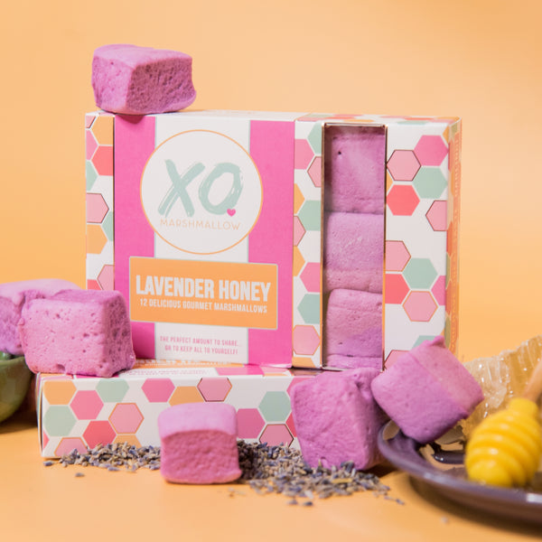 purple marshmallows with lavender taste
