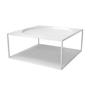 steel coffee table in white