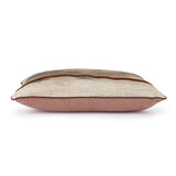 textured lumbar pillow in pastel colors