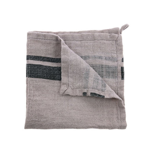Natural linen grey napkin - set of 2