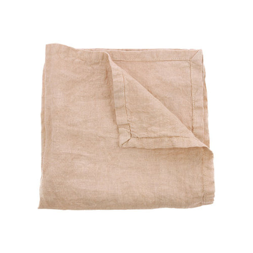 natural linen napkin in salmon