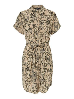 printed shirt dress nomad by vero moda
