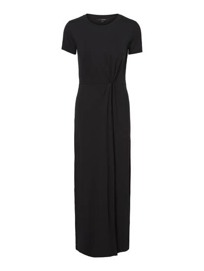 black maxi dress with split by vero moda